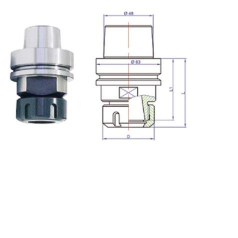 HSK 63E Tool Holder